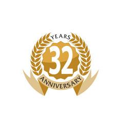 32 years ribbon anniversary vector image vector image
