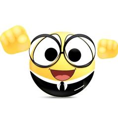 Confidence Office worker Emoticon vector image vector image