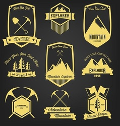 Explorer Adventure Vintage Label vector image vector image