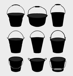 garden buckets vector image