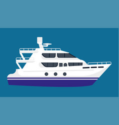passenger liner in white color isolated on blue vector image vector image