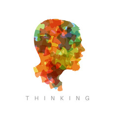 thinking concept vector image vector image