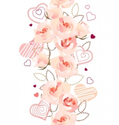 vertical seamless rose pattern vector image vector image