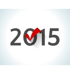 2015 written on white background with a red check vector image