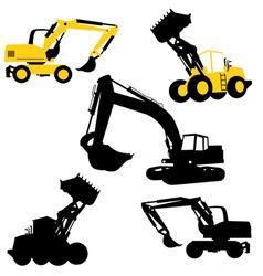 bulldozers construction vector image vector image