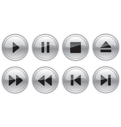 control buttons vector image vector image