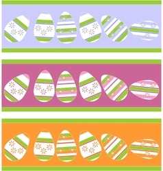 Holiday gift egg in color 12 vector image