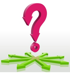 Question and arrows vector image vector image