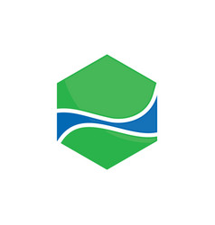 shape line polygon business logo image vector image