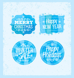 Special winter offer banner - text in blue and vector