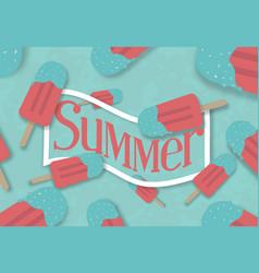 summer ice cream banner vector image