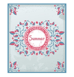 Summer poster in Provence style vector image