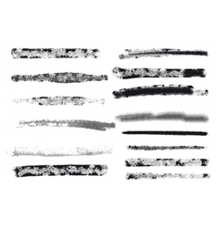 Engraving brushes set vector image