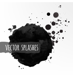 Inky splashes vector image vector image