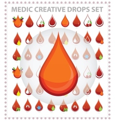 medic creative blood drops symbols and sign vector image vector image