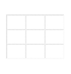 Mockup blank design six stamps block philately vector image