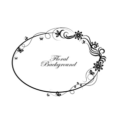 Oval simple ornamental frame vector image