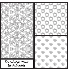 Set of seamless decorative patterns vector image