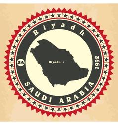 Vintage label-sticker cards of Saudi Arabia vector image vector image