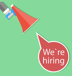we hiring announce poster vector image