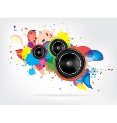 Abstract music background with Sound Speaker vector