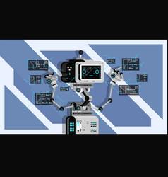 Ai smart bot robot vector
