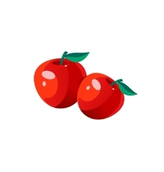 Apples Bright Color Simple vector image