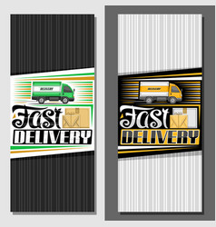 banner for fast delivery vector image