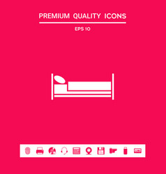 bed symbol icon graphic elements for your design vector image