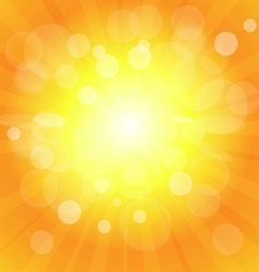 Bright sun effect background vector image