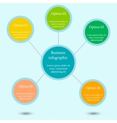 Business chart concept vector