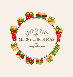 celebrating christmas greeting template vector image