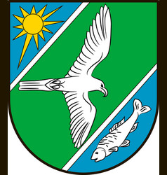 Coat of arms of falkensee in brandenburg germany vector