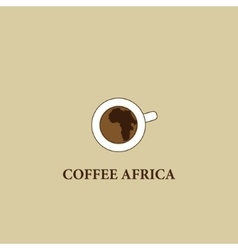 Coffee Africa Symbol cafe Africa vector image