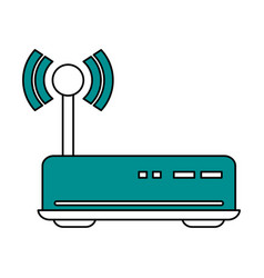 Color silhouette image of wireless router vector