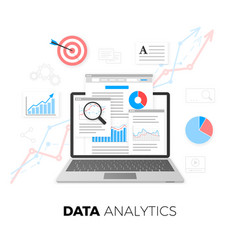 data analytics concept seo optimization search vector image