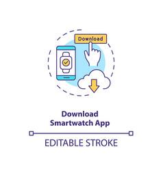 Download smartwatch app concept icon vector