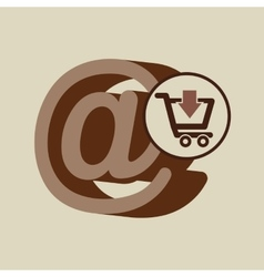 E-commerce store digital mail marketing vector