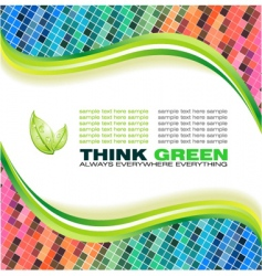 ecology green background vector image