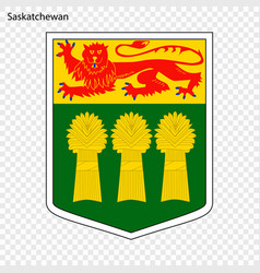 emblem of saskatchewan province of canada vector image