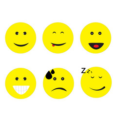 emoticon emoji set on white background emoticon vector image