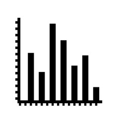 financial charts icon vector image