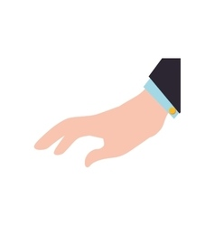 fingers human hand gesture icon graphic vector image