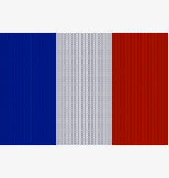 Flag of france on knitted woolen texture vector