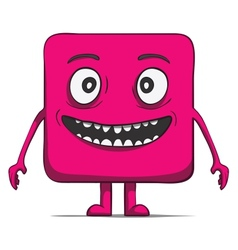 Funny cube dude Square character vector image