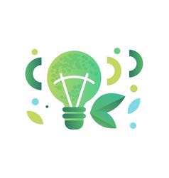 green ecological lightbulb on vector image