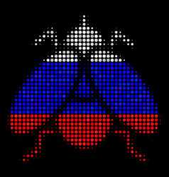 Halftone russian fly insect icon vector