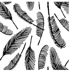 hand drawn sketch of palm seamless pattern vector image