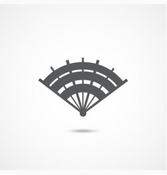 hand fan icon vector image