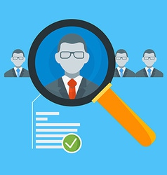 Hiring process concept with candidate selection vector